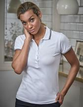 Ladies` Luxury Stripe Stretch Polo